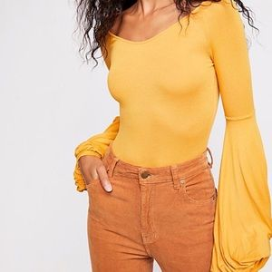 Free People To The Tropics Top in Yellow New Small